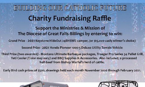 Charity Fundraising Raffle - Diocese Of Great Falls-Billings