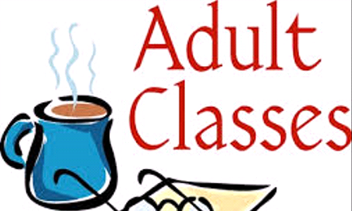 Adult Education For May 28th